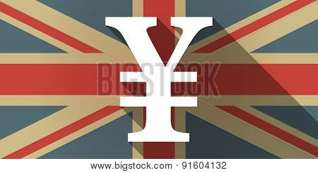 Uk Flag Icon With A Yen Sign