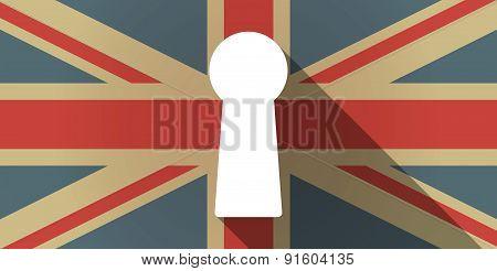 Uk Flag Icon With A Key Hole