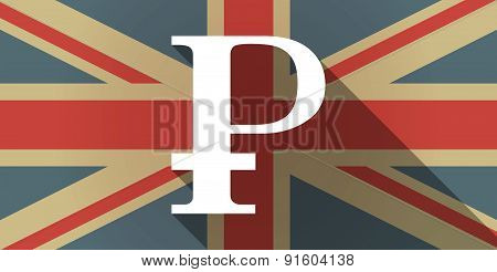 Uk Flag Icon With A Ruble Sign