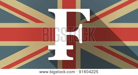 Uk Flag Icon With A Swiss Franc Sign