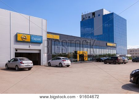 Office Of Official Dealer Opel. Opel Is A German Automobile Manufacturer.