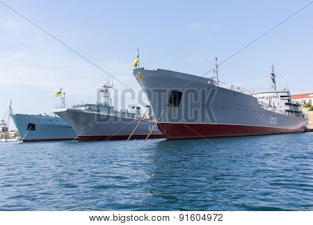 Ukraine, Sevastopol - September 02, 2011: Court Ukrainian Navy In Sevastopol Until The Establishment
