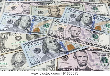 Background From Dollar Bills
