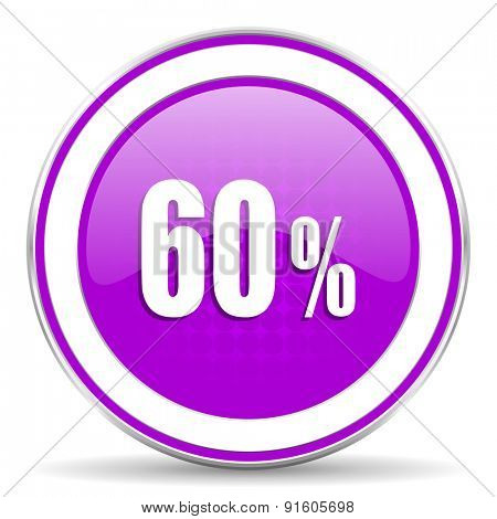 60 percent violet icon sale sign