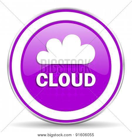 cloud violet icon