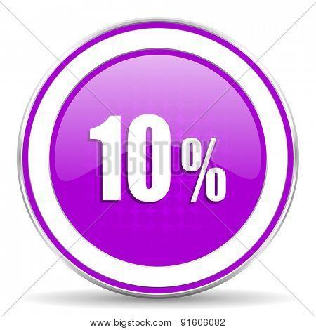 10 percent violet icon sale sign