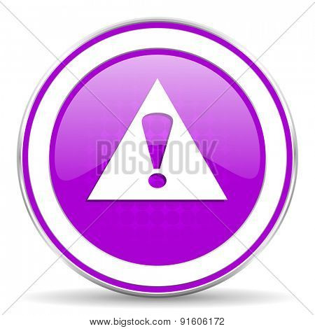 exclamation sign violet icon warning sign alert symbol
