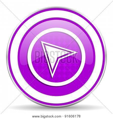 navigation violet icon