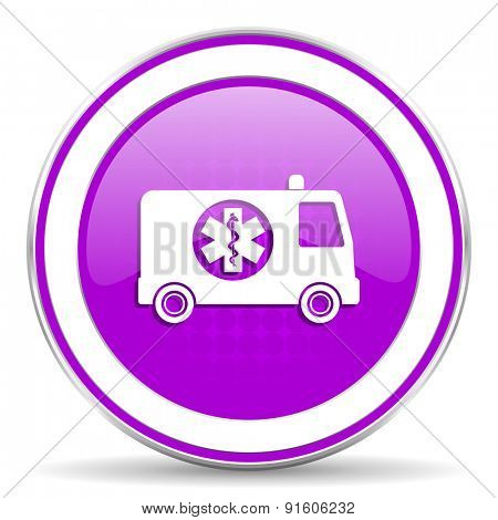 ambulance violet icon