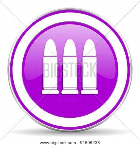 ammunition violet icon weapoon sign