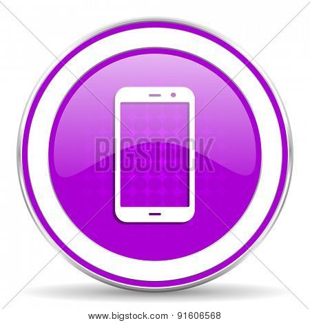smartphone violet icon phone sign