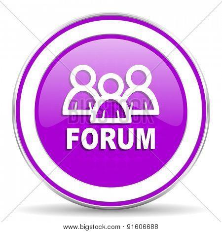forum violet icon