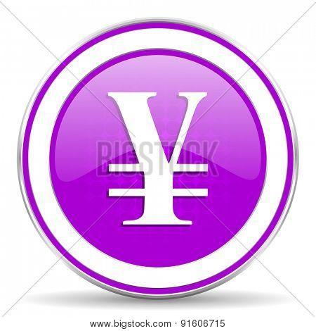 yen violet icon