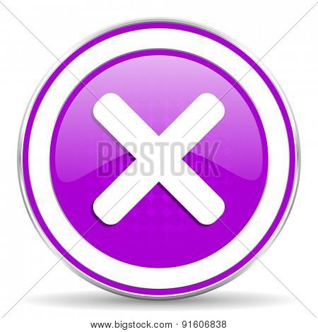 cancel violet icon x sign