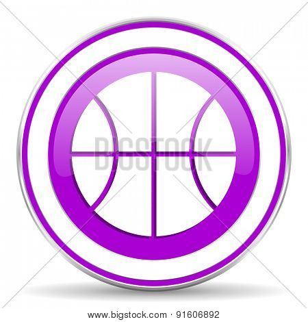 ball violet icon basketball sign