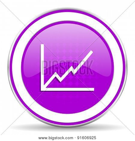 chart violet icon stock sign