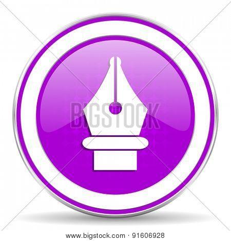 pen violet icon
