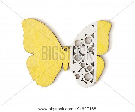 Handmade Yellow And White Butterfly