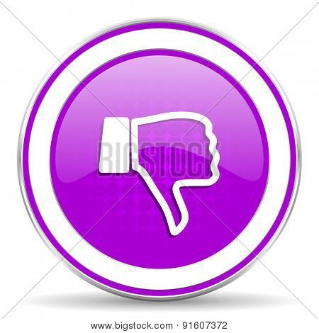 dislike violet icon thumb down sign