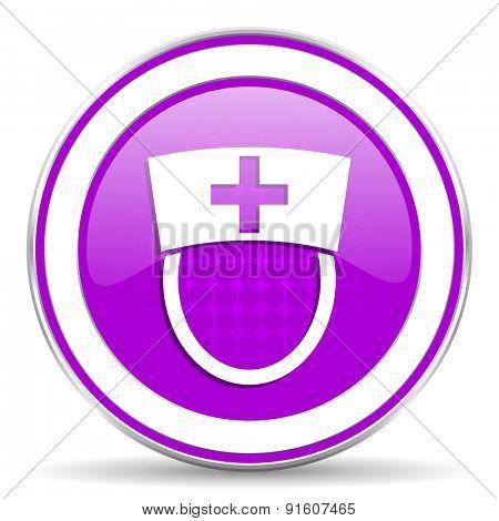 nurse violet icon hospital sign