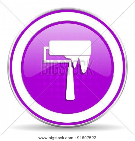 brush violet icon paint sign