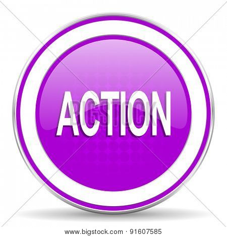 action violet icon