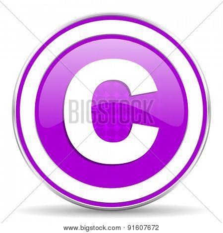 copyright violet icon