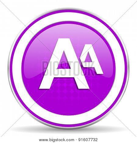 alphabet violet icon