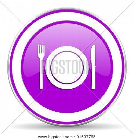 eat violet icon restaurant symbol