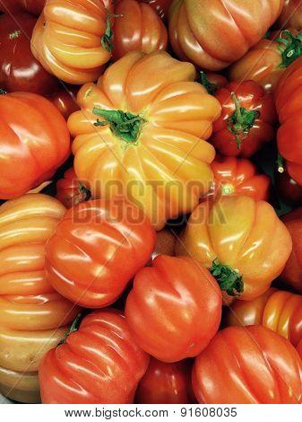 Premium Tomatoes As Background. Kur Ba Dur