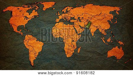 Pakistan Territory On World Map