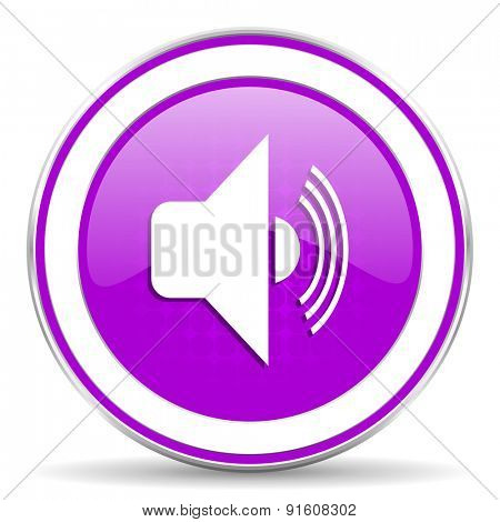 volume violet icon music sign