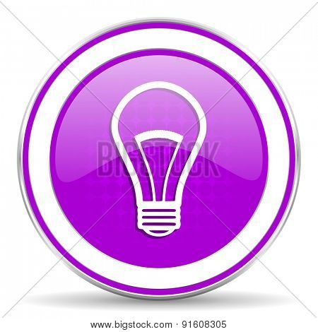 bulb violet icon light bulb sign