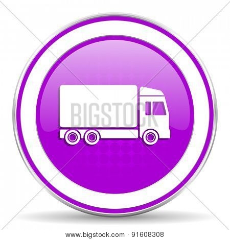 delivery violet icon truck sign