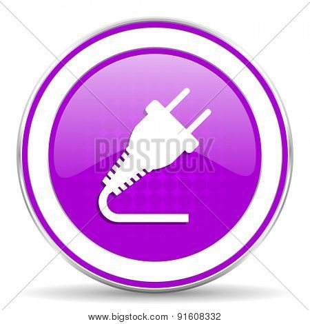 plug violet icon electricity sign