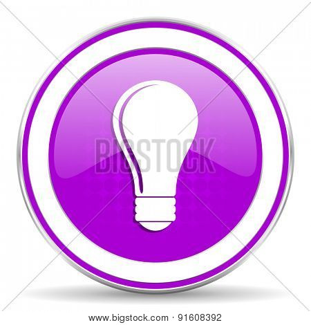 bulb violet icon idea sign