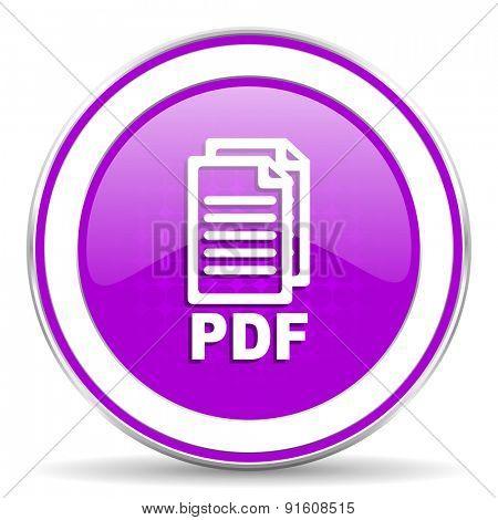 pdf violet icon pdf file sign