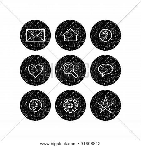 Grunge icons set
