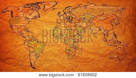 Romania Territory On World Map