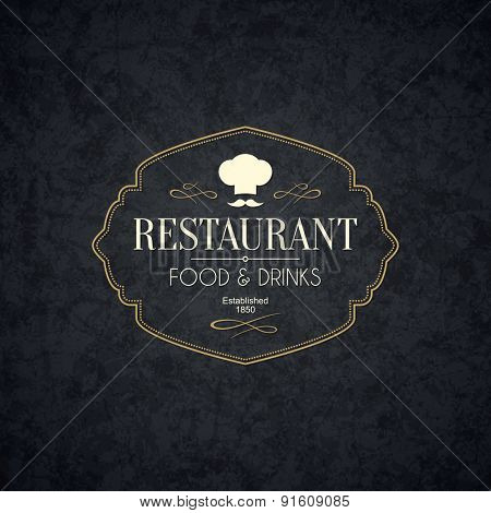 Vintage logotype for restaurant, bars, coffee house, cafeteria