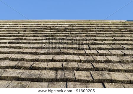 Old Wooden Plank Roof