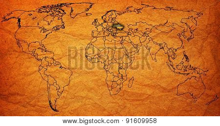 Ukraine Territory On World Map