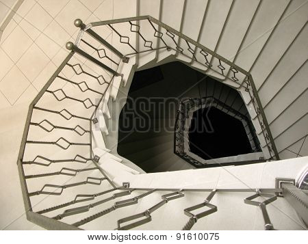 Marble Spiral Staircase