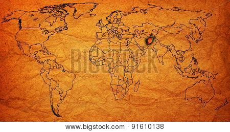 Afghanistan Territory On World Map