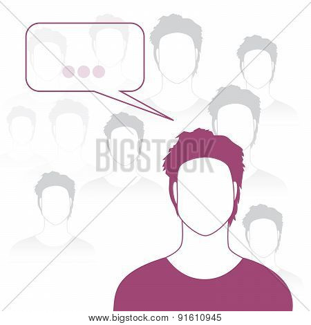 Coloured man silhouette