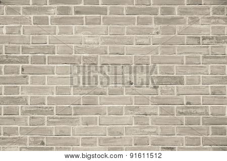 Stone Wall From A Brick Of Beige Color