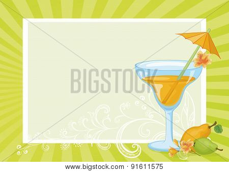 Juice, Pears, Flowers and Floral Pattern