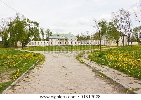 Classicist palace in Bialaczow, Poland
