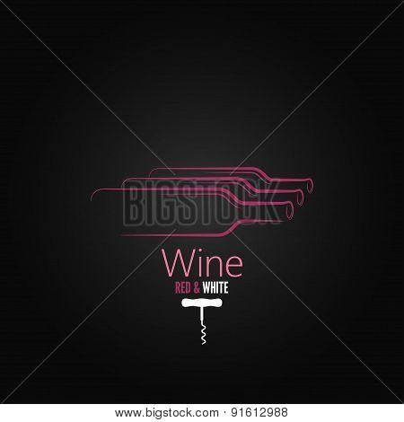 wine bottle corkscrew classic design background