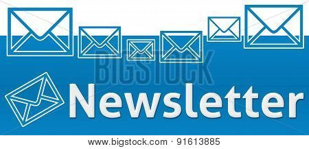 Newsletter With Envelope On Top